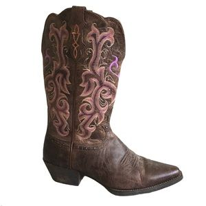 JUSTIN BOOTS Women's Stampede Western Cowboy Boots